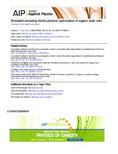 Simulated annealing electro-photonic optimization of organic solar cells