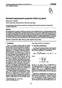 Simulated magnetocaloric properties of MnCr O spinel
