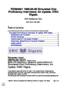 Simulated Oral Proficiency Interviews - Eric