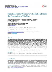 Simulated Solar Microwave Radiation Blocks the Formation of Biofilms