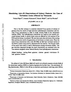 Simulating Astro-E2 Observations of Galaxy Clusters: the Case of ...