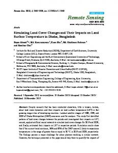 Simulating Land Cover Changes and Their Impacts on Land ... - MDPI