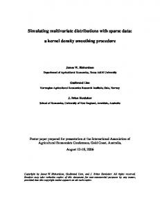 Simulating multivariate distributions with sparse data ... - AgEcon Search