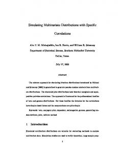 Simulating Multivariate Distributions with Specific Correlations