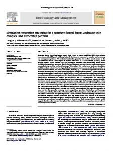 Simulating restoration strategies for a southern boreal ... - PubAg - USDA