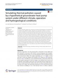 Simulating thermal pollution caused by a hypothetical ... - Springer Link