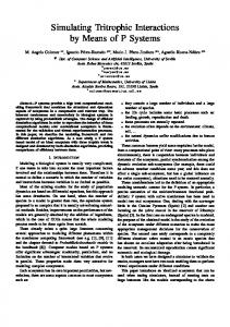 Simulating Tritrophic Interactions by Means of P Systems