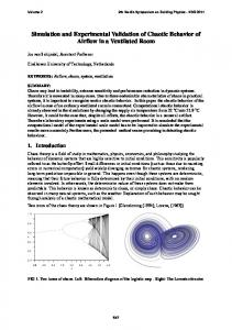 Simulation and Experimental Validation of Chaotic Behavior of Airflow