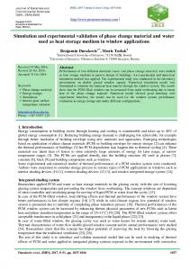 Simulation and experimental validation of phase change material and