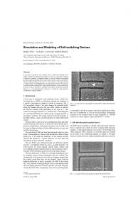 Simulation and Modeling of Self-switching Devices