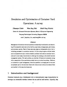 Simulation and Optimization of Container Yard ... - Semantic Scholar