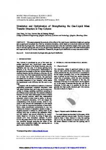 Simulation and Optimization of Strengthening the Gas-Liquid Mass ...