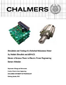 Simulation and Testing of a Switched Reluctance Motor By Matlab ...