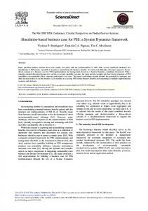 Simulation-Based Business Case for PSS: A ... - ScienceDirect.com
