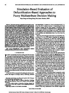 Simulation-Based Evaluation of Defuzzification-Based ... - CiteSeerX