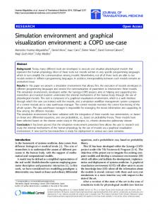 Simulation environment and graphical visualization environment: a ...