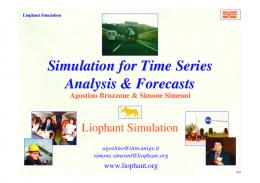 Simulation for Time Series Analysis & Forecasts