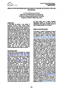 SIMULATION METHODOLOGY OF RADIANT COOLING WITH ...