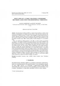 SIMULATION OF A STABLY STRATIFIED ... - Springer Link