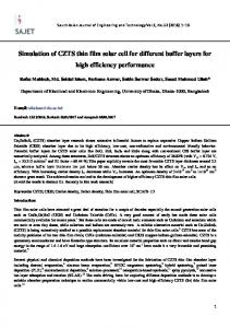 Simulation of CZTS thin film solar cell for different