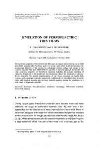 simulation of ferroelectric thin films