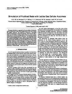 Simulation of Fluidized Beds with Lattice Gas Cellular ... - Science Direct