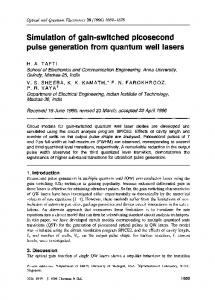Simulation of gain-switched picosecond pulse generation from