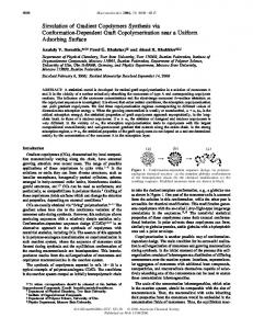 Simulation of Gradient Copolymers Synthesis via Conformation ...