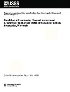 Simulation of Groundwater Flow and Interaction of Groundwater and ...
