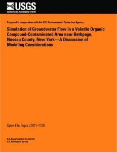 Simulation of Groundwater Flow in a Volatile Organic Compound ...