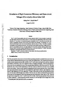 Simulation of High Conversion Efficiency and Open-circuit Voltages Of ...