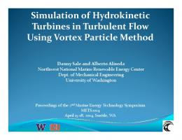 Simulation of Hydrokinetic Turbines in Turbulent Flow ...