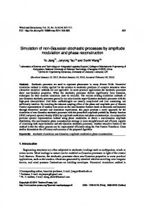 Simulation of non-Gaussian stochastic processes by ...