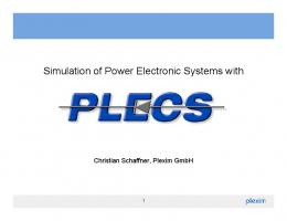 Simulation of Power Electronic Systems with
