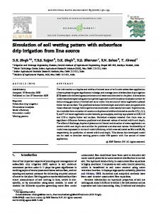 Simulation of soil wetting pattern with subsurface drip ...