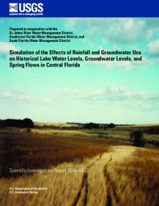 Simulation of the Effects of Rainfall and Groundwater Use - USGS ...