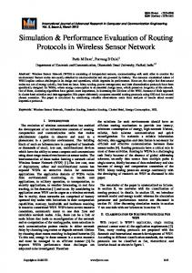 Simulation & Performance Evaluation of Routing Protocols in Wireless