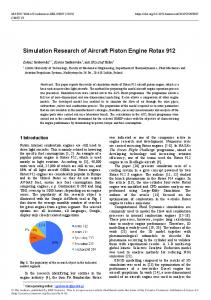 Simulation Research of Aircraft Piston Engine Rotax