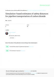 Simulationbased estimates of safety distances for pipeline ...