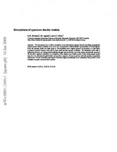 Simulations of quantum double models