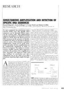 Simultaneous amplification and detection of ... - Gene Quantification