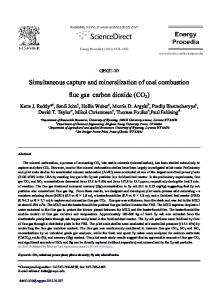 Simultaneous capture and mineralization of coal combustion flue gas ...