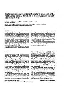 Simultaneous changes in central and peripheral components of the ...