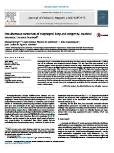 Simultaneous correction of esophageal lung and ...