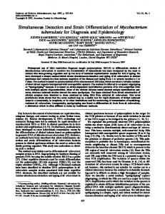 Simultaneous Detection and Strain Differentiation of Mycobacterium ...