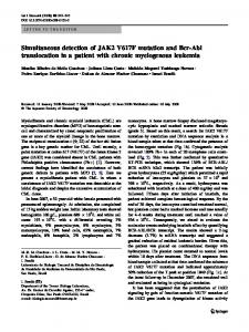 Simultaneous detection of JAK2 V617F mutation and ... - Springer Link