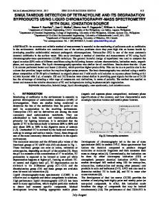 simultaneous detection of tetracycline and its degradation byproducts ...