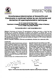 Simultaneous determination of Amoxicillin and Clavulanate in ...