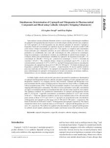 Simultaneous determination of captopril and thioguanine in