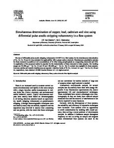 Simultaneous determination of copper, lead, cadmium and zinc using